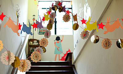 hallway, school, decorations