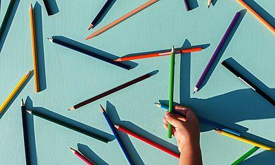 hand, pencils, child,